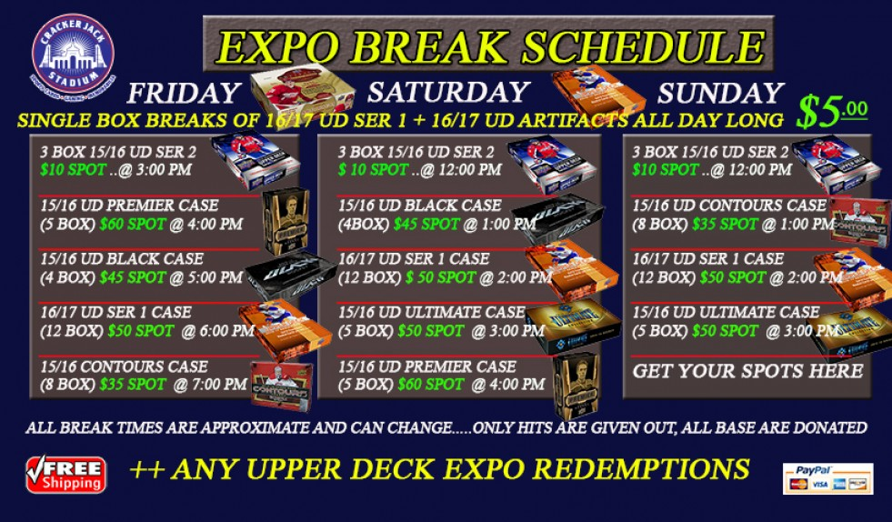 Crackerjack Stadium to host LIVE box breaks at Toronto Card Expo 2016