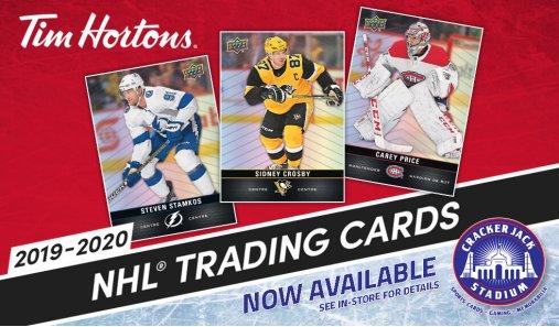 2019-20 Tim Hortons NHL Hockey Trading Cards Now Available at Crackerjack Stadium