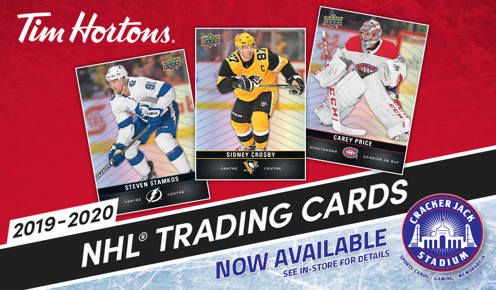 2019-20 Tim Hortons NHL Hockey Trading Cards Now Available at Crackerjack Stadium
