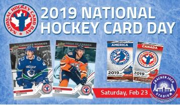 Sat, Feb 23rd, 2019 is National Hockey Card Day at Crackerjack Stadium
