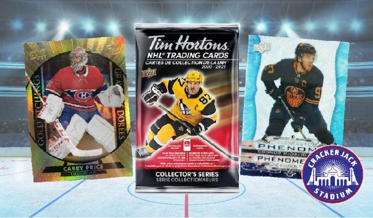 2020-21 Upper Deck Tim Hortons NHL Hockey Trading Cards Now Available at Crackerjack Stadium