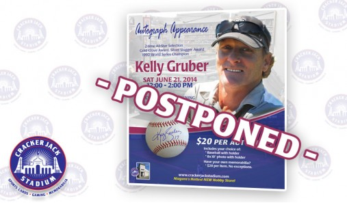 Autograph Appearance with Blue Jays Legend Kelly Gruber - SAT June 21, 2014
