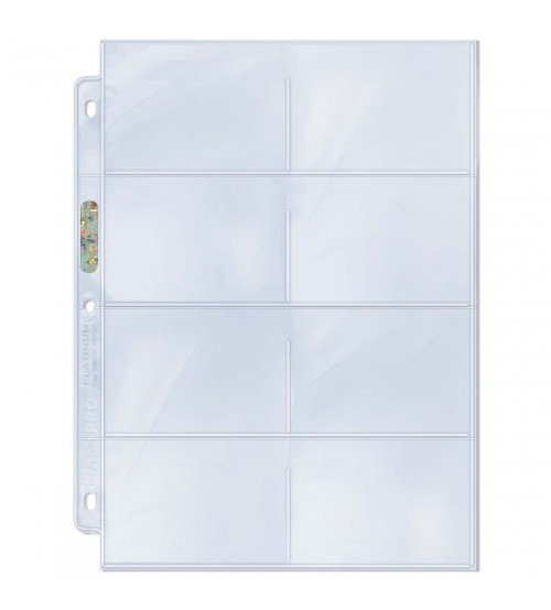 Ultra PRO Platinum Series Hologram 8-Pocket Pages, 100/Pack