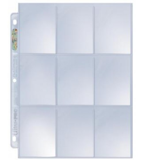 Ultra PRO Platinum Series Hologram 9-Pocket Pages, 100/Pack