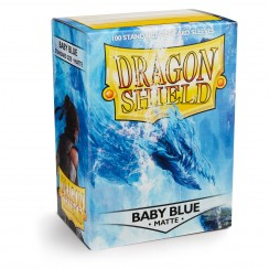Dragon Shield Matte Baby Blue Protective Card Sleeves in Deck Storage Box, 100/Pack