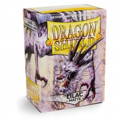 Dragon Shield Matte Lilac Protective Card Sleeves in Deck Storage Box, 100/Pack