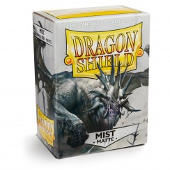 Dragon Shield Matte Mist Protective Card Sleeves in Deck Storage Box, 100/Pack