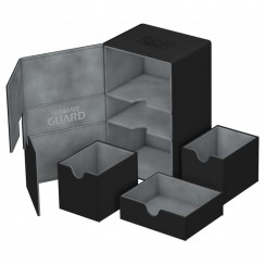 Ultimate Guard Twin Flip'n'Tray™ 160-Card Magnetic Deck Box, Black