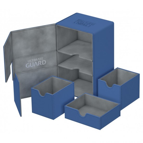 Ultimate Guard Twin Flip'n'Tray™ 160-Card Magnetic Deck Box, Blue