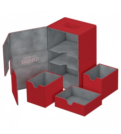 Ultimate Guard Twin Flip'n'Tray™ 160-Card Magnetic Deck Box, Red