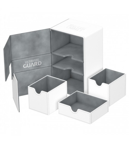 Ultimate Guard Twin Flip'n'Tray™ 160-Card Magnetic Deck Box, White
