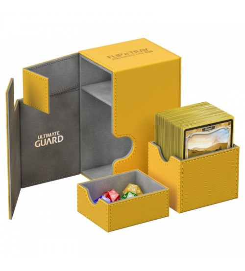Ultimate Guard Flip'n'Tray™ 80-Card Magnetic Deck Box, Amber