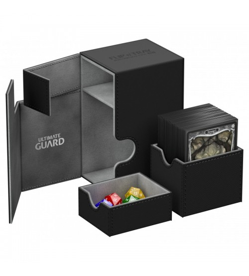 Ultimate Guard Flip'n'Tray™ 80-Card Magnetic Deck Box, Black