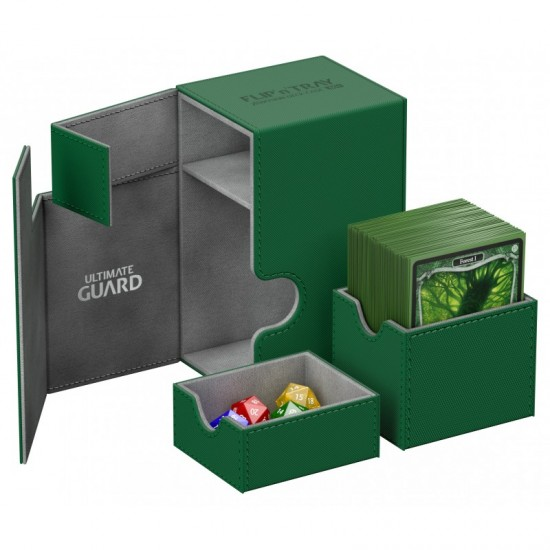 Ultimate Guard Flip'n'Tray™ 80-Card Magnetic Deck Box, Green