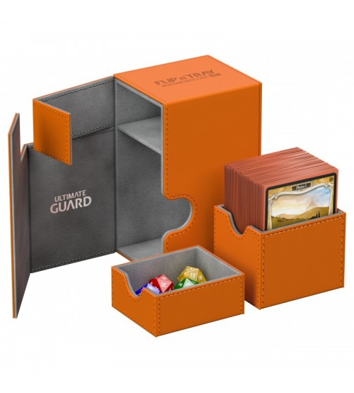 Ultimate Guard Flip'n'Tray™ 80-Card Magnetic Deck Box, Orange