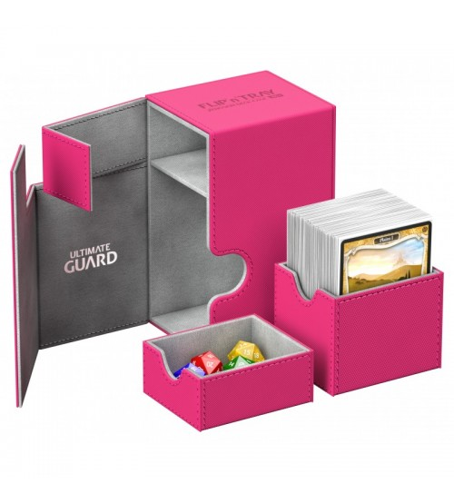 Ultimate Guard Flip'n'Tray™ 80-Card Magnetic Deck Box, Pink