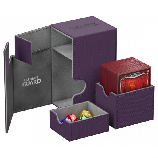Ultimate Guard Flip'n'Tray™ 80-Card Magnetic Deck Box, Purple