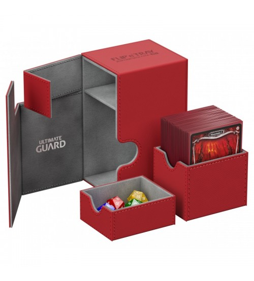 Ultimate Guard Flip'n'Tray™ 80-Card Magnetic Deck Box, Red