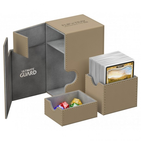Ultimate Guard Flip'n'Tray™ 80-Card Magnetic Deck Box, Sand