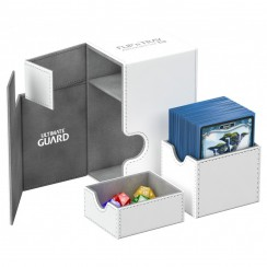 Ultimate Guard Flip'n'Tray™ 80-Card Magnetic Deck Box, White