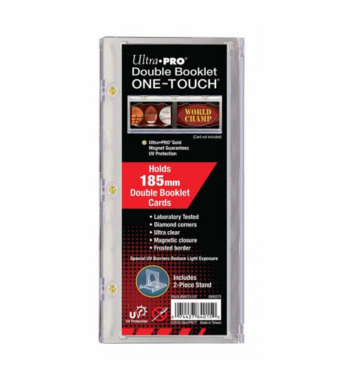 Ultra PRO ONE-TOUCH Double Booklet Magnetic Card Holder & Display Stand, 185mm
