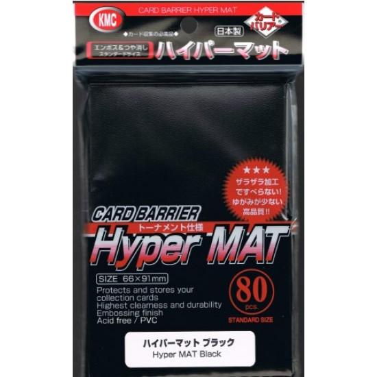 KMC Hyper Matte Black Card Barrier Sleeves, 80/Pack