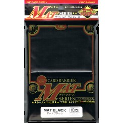 KMC Matte Black Card Barrier Sleeves, 80/Pack