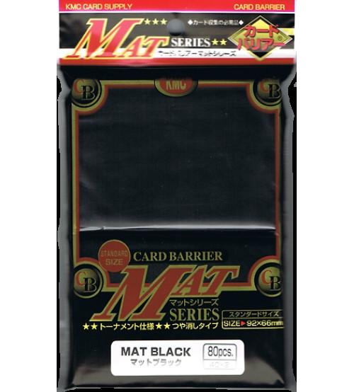 KMC Matte Black Card Barrier Sleeves, 80/Pack