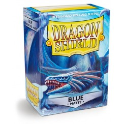 Dragon Shield Matte Blue Protective Card Sleeves in Deck Storage Box, 100/Pack