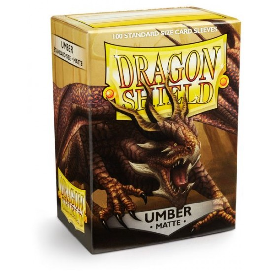 Dragon Shield Matte Umber Protective Card Sleeves in Deck Storage Box, 100/Pack