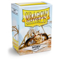 Dragon Shield Matte Ivory Protective Card Sleeves in Deck Storage Box, 100/Pack