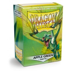 Dragon Shield Matte Apple Green Protective Card Sleeves in Deck Storage Box, 100/Pack