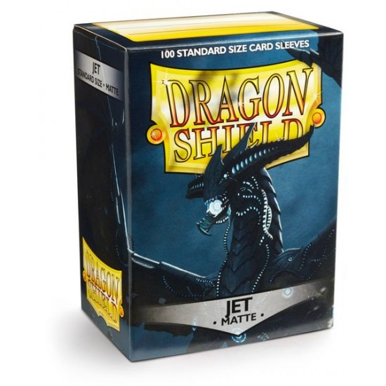 Dragon Shield Matte Jet Protective Card Sleeves in Deck Storage Box, 100/Pack