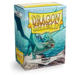 Dragon Shield Matte Mint Protective Card Sleeves in Deck Storage Box, 100/Pack