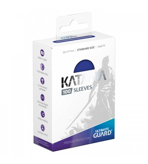 Ultimate Guard Katana Protective 100-Card Sleeves Standard Size, Blue