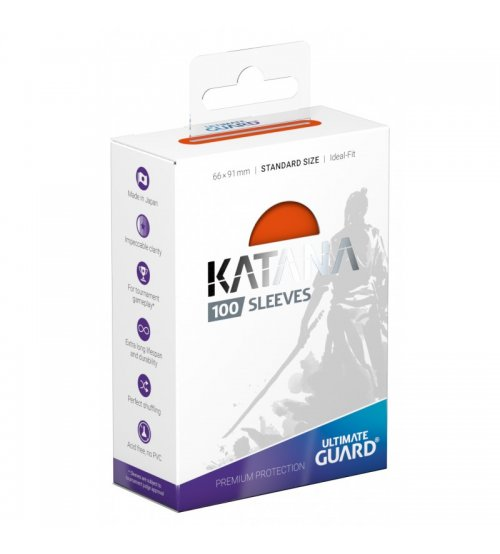 Ultimate Guard Katana Protective 100-Card Sleeves Standard Size, Orange