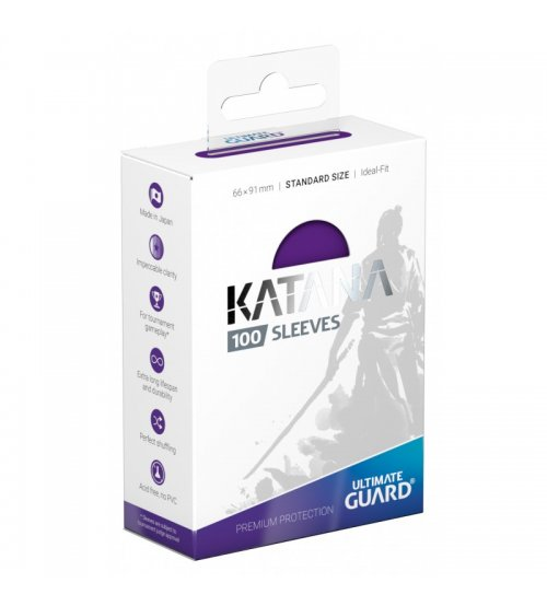 Ultimate Guard Katana Protective 100-Card Sleeves Standard Size, Purple