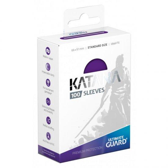 Ultimate Guard Katana Protective 100-Card Sleeves Standard Size, Purple