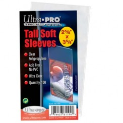 "Ultra PRO 2.5"" x 4.75"" Tall Soft Card Sleeves, 100/Pack"
