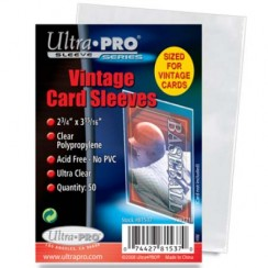"Ultra PRO 2.75"" x 3.94"" Vintage Soft Card Sleeves, 50/Pack"