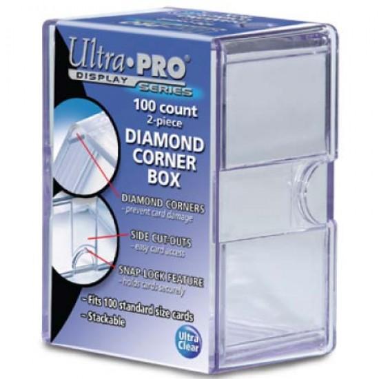 Ultra PRO Heavy Duty 2-Piece 100-Count Clear Diamond Corner Card Storage Box