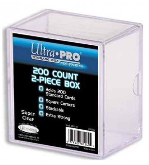 Ultra PRO Heavy Duty 2-Piece 200-Count Clear Card Storage Box