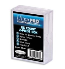 Ultra PRO Heavy Duty 2-Piece 25-Count Clear Card Storage Box, 2/Pack