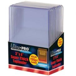 "Ultra PRO 3"" x 4"" Super Thick 130pt Toploader, 10/Pack"
