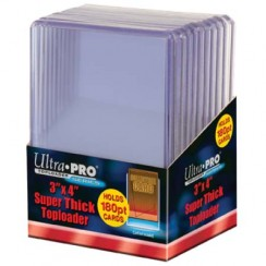 "Ultra PRO 3"" x 4"" Super Thick 180pt Toploader, 10/Pack"