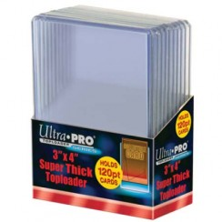 "Ultra PRO 3"" x 4"" Super Thick 120pt Toploader, 10/Pack"