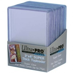 "Ultra PRO 3"" x 4"" Super Thick 75pt Toploader, 25/Pack"