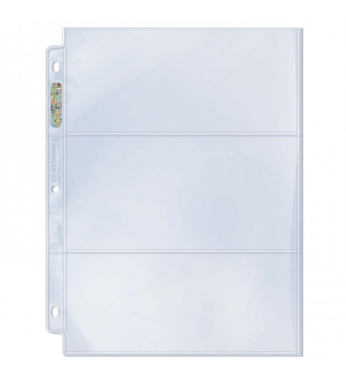 Ultra PRO Platinum Series Hologram 3-Pocket Pages, 100/Pack
