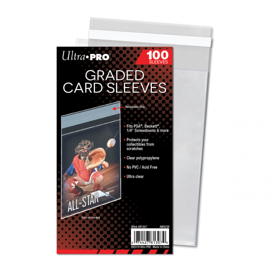 Ultra PRO Graded Card Sleeves, 100/Pack