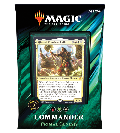 Magic: The Gathering Commander 2019 - Primal Genesis